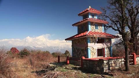 Nepal Temple Dhaulagiri Footage