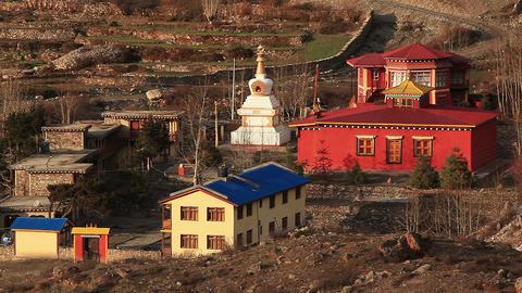 Mukhtinath Temples Nepal Footage