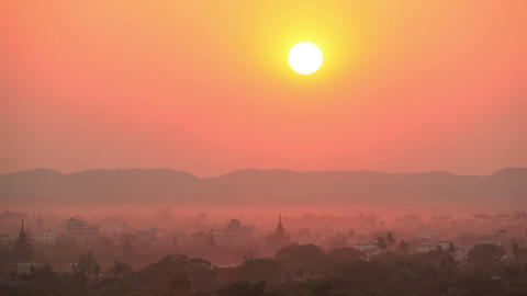 Time Lapse Evening Mandalay Sunset Animation