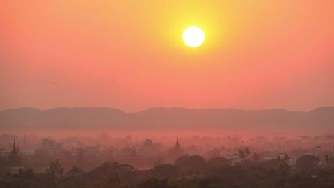 Time Lapse Evening Mandalay Sunset Animation