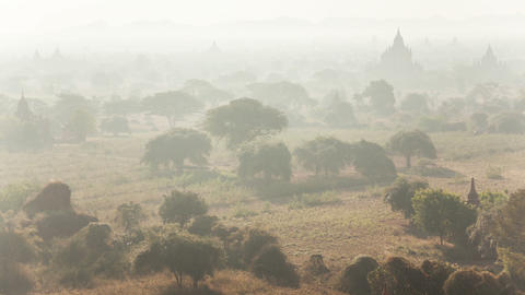 Bagan Morning Time Lapse Animation