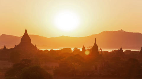 Bagan Sunset Time Lapse Animation