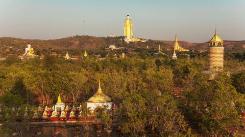 Standing Buddha Monywa Timelapse Footage