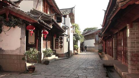 Dayan old town street in Lijiang Footage