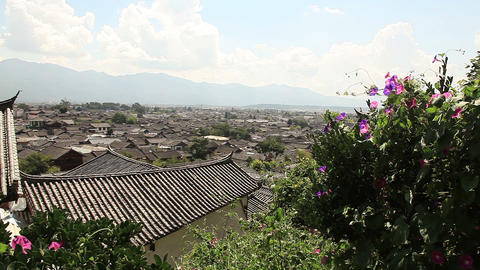 Specificity of architecture of Dayan old city. Lijiang, China Footage