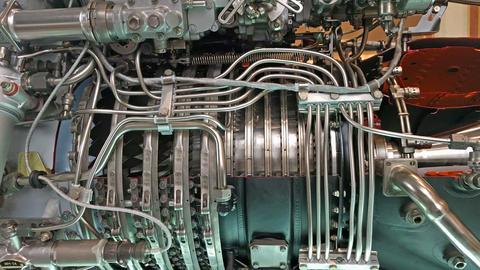 Jet engine105254 Footage