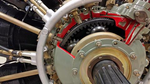 Piston aircraft engine111624 Footage