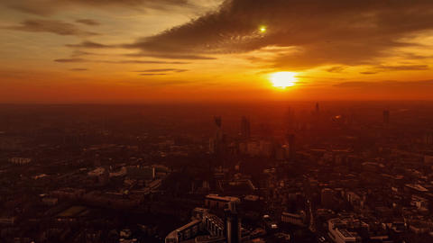 Timelapse of the West London skyline from golden hour to early evening taken fro Footage