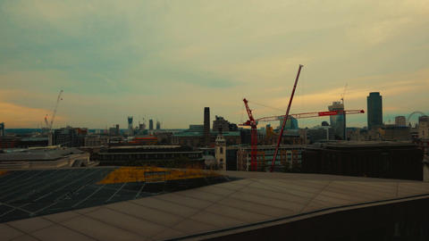Panoramic view of Central London, including the Shard and St Pauls Cathedral Footage