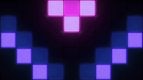Retro Color Squares Background Animation