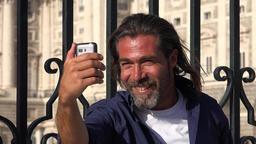 Caucasian Man Taking Selfy Live Action
