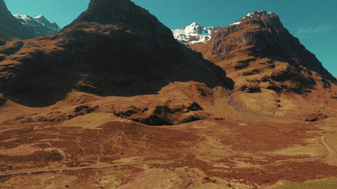Establishing shot of the Scottish Highlands during late spring Footage