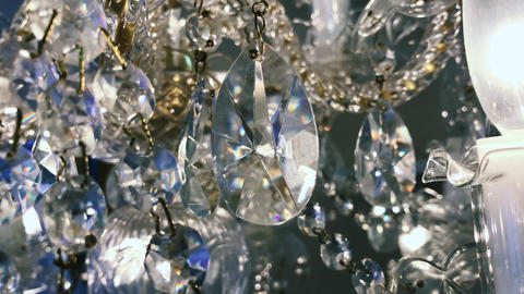 The crystal of the chandelier is shining Footage