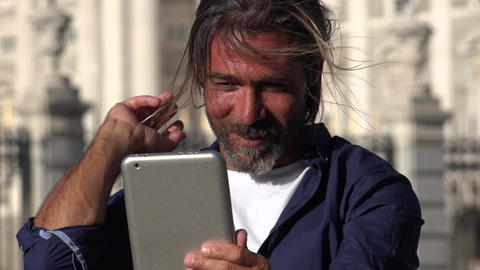 Person Using Tablet Live Action