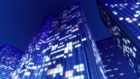 Skyscraper 2 Db1 night 4k Animation