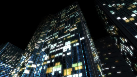 Skyscraper 2 Db2 night 4k Animation