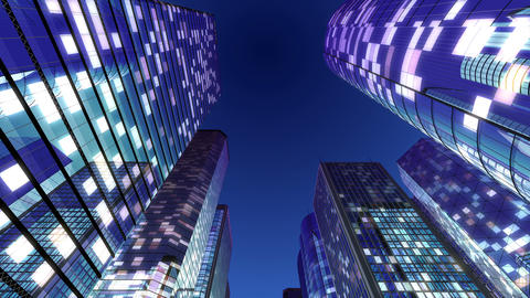 Skyscraper 2 Fb2 night 4k Animation