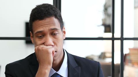 Black Businessman Sleeping at Work Live Action