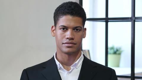 Portrait of Black Businessman Footage
