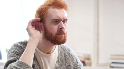Man Listening Secret Carefully Footage