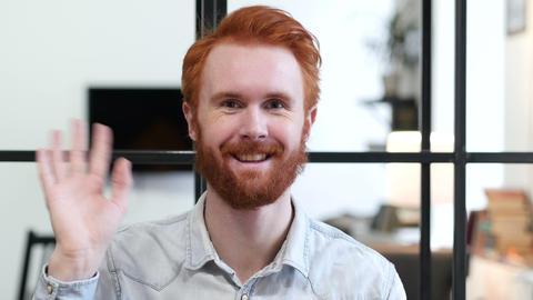 Hello by Beard Man, Waving Hand ビデオ