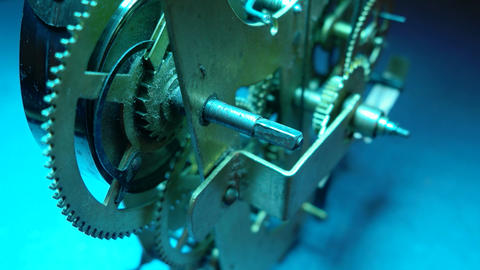 Clock Mechanism Works Footage