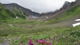 Beautiful Kamchatka summer mountain landscape (time lapse) Footage