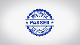 """""""Passed"""" 3D Animated Round Wooden Stamp Animation Footage"""