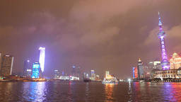 Pudong New Area Night view 04 4K Footage