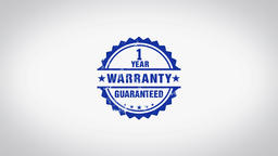"""Warranty"" 3D Animated Round Wooden Stamp Animation Animation"