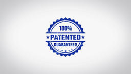 """""""Patented"""" 3D Animated Round Wooden Stamp Animation Animation"""