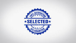 """Selected"" 3D Animated Round Wooden Stamp Animation Animation"