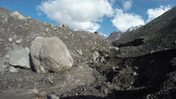 Volcanic landscape of Kamchatka: view of mountain river Footage
