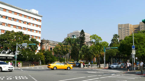 Traffic in front of National Taiwan University Hospital Footage