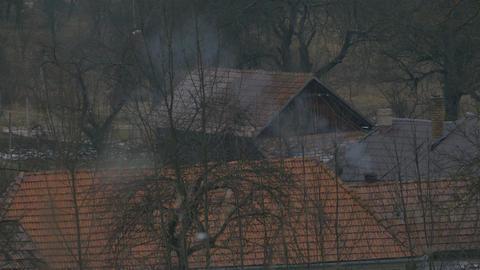 Tiny House Chimney Smoke Footage