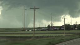 Tornado - storm chaser drive up Footage