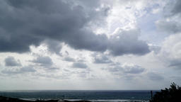 Cloudy day long time lapse Footage