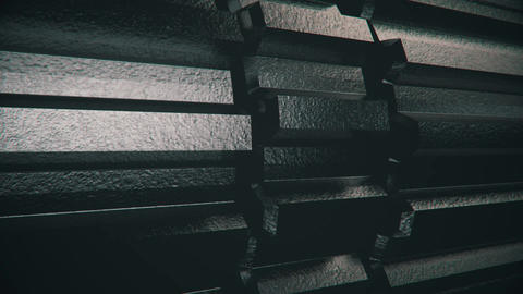 3D Metal Gears Rotating in Loop-4 Animation