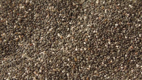 Many chia seeds falling Footage