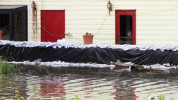 Flooding - sandbags deployed Footage