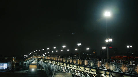 Moscow bridge Footage