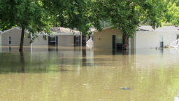Flooding - trailers swamped Footage