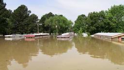 Flooding - homes underwater Footage
