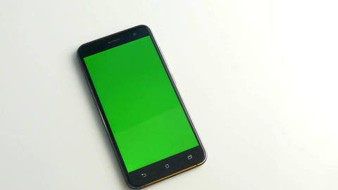 Green screen phone on white 2 Live Action