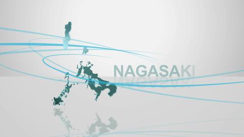 H Dmap c 42 nagasaki Stock Video Footage