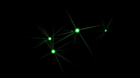 green shine stars,flare ray light,Christmas background,fiber Stock Video Footage
