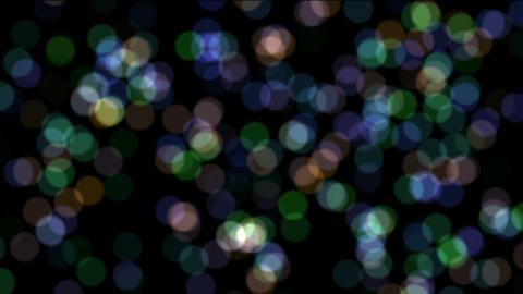defocused circle lights drifting downwards,christmas... Stock Video Footage