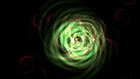 rotation fiber optic wire shaped tunnel hole in... Stock Video Footage