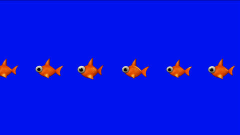 cartoon goldfish Animation
