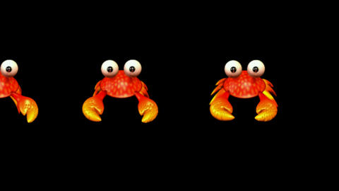 cartoon crabs crawl Stock Video Footage